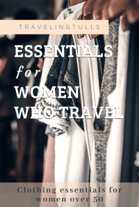 Guide to essential travel clothing for women over 50 #travelclothing #capsulewardrobeover50 #womenstravelclothing