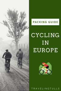 Packing guide for cycling in Europe. A guide to packing when you'll be living out of a duffel bag. Clothing suggestions, gear, and essentials for European travel. #cyclingtravelguide #bikeEurope #packinglist