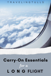 Carry-on essentials for a long flight in economy class. Tips and suggestions to get you through a #longhaulflight