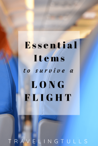 Essential items to bring onboard a long flight. Tips and suggestions for surviving hours in the air.