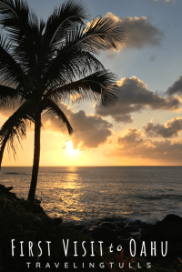 Sunset off the North Shore of Oahu. Essential guide for first time visitors to Oahu.
