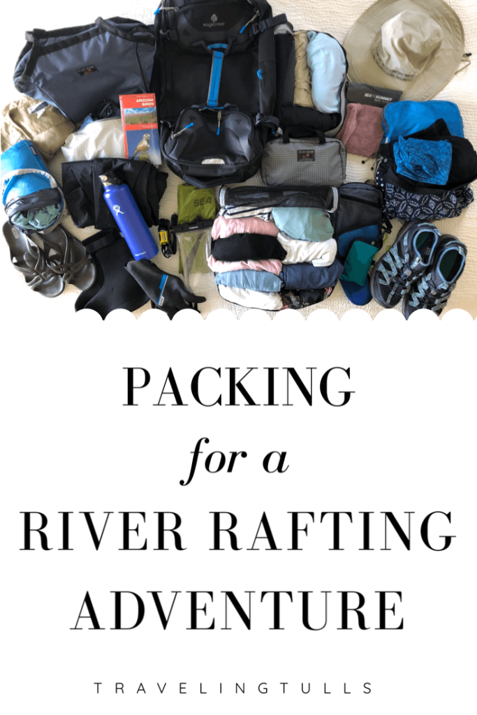 Packing for a river rafting adventure in a duffel bag. What to bring on a guided raft trip through the Grand Canyon.
