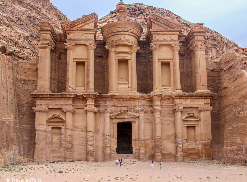 The Monastery in Petra is a bucket list destination, but is accessed by walking up a steep path, or riding a donkey.