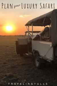 Plan the perfect luxury Safari in Africa. 10 steps to the trip of a Lifetime. #africansafariplanning #bestluxurysafari #africansunset
