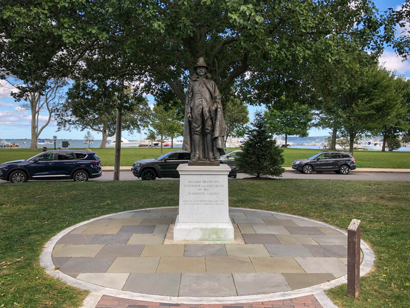 Statue of William Bradford, governor of Plymouth Colony