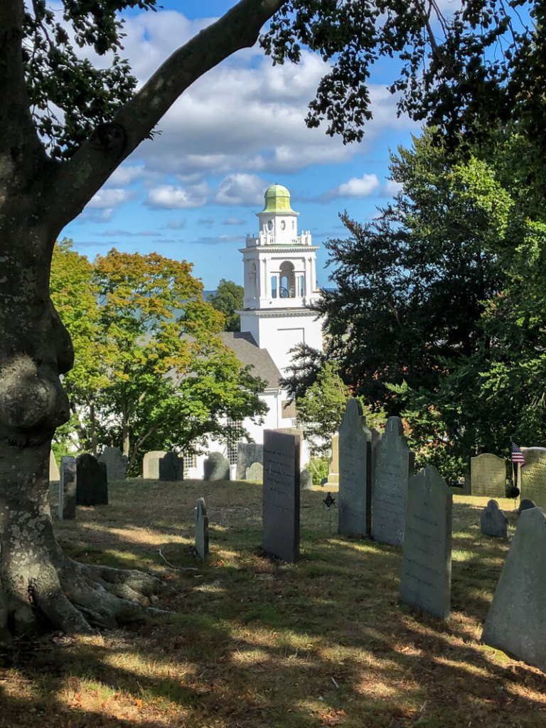 View from Burial Hill in Plymouth