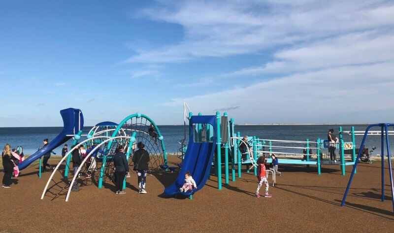 Nelson Park playground in Plymouth, MA