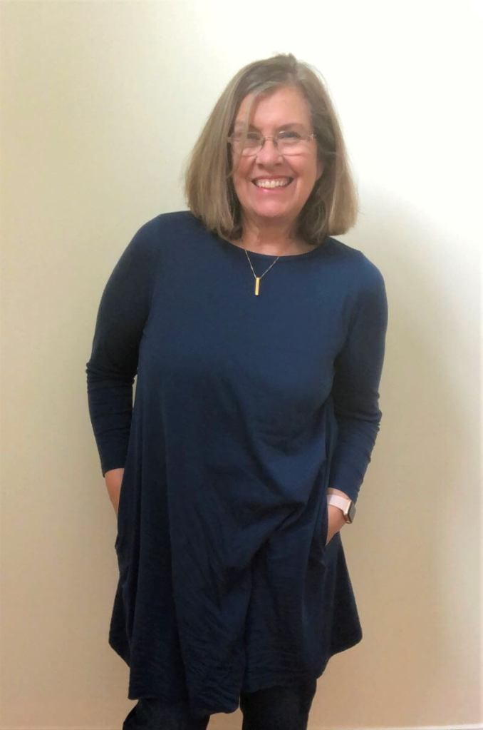 merino wool dress by Wool& in Marine Blue. Travel clothing for women