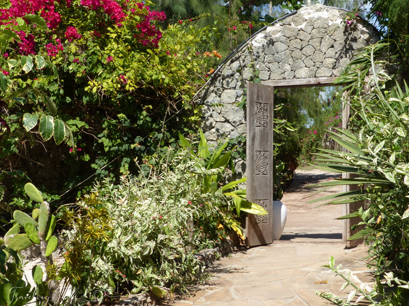Gate to resort in Zanzibar, adding Zanzibar to our safari itinerary