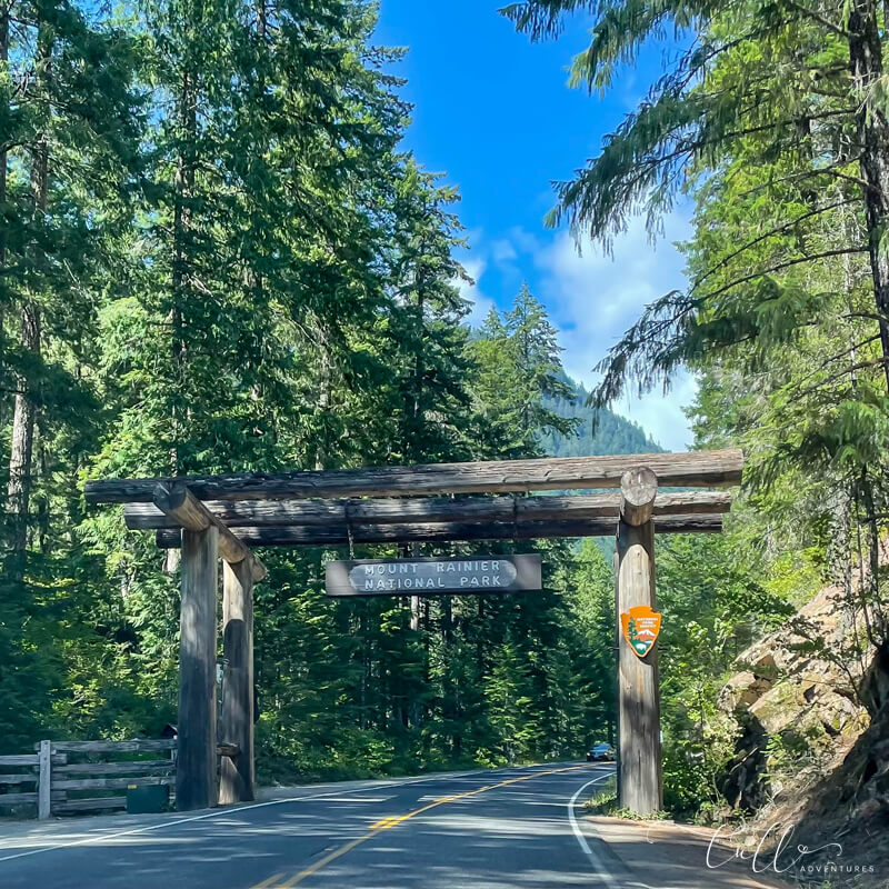 Entrance to Mount Rainier National Park