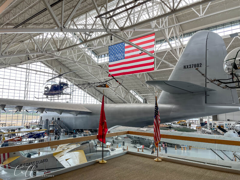 Howard Hughes' Spruce Goose in Evergreen Aviation and Space Museum
